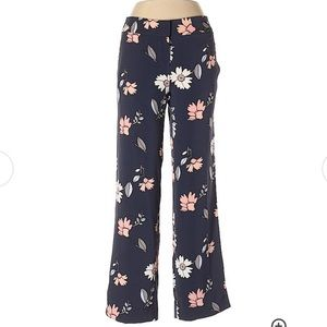 Loft NWOT Floral Flare Dress Pants Size 14
